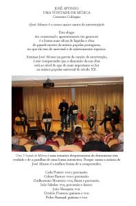 Uma Vontade de Música - Press Release 2013-12-07