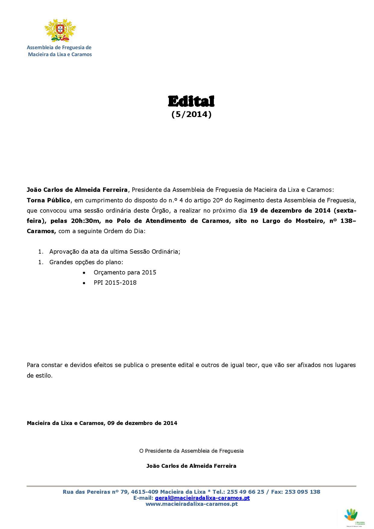 Ediatl nº 052014_Assembleia de Freguesia